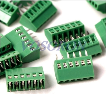 50pcs/lot 2.54mm Pitch PCB Screw Terminal Block 6P 150V6A UL, 130V8A IEC, CE Rohs