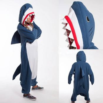 Adult Pyjamas Cosplay Tiger dog Elephant Unicorn Blue Shark Onesie Lemur Sleepwear Homewear Pajamas Party Clothing For Women Man